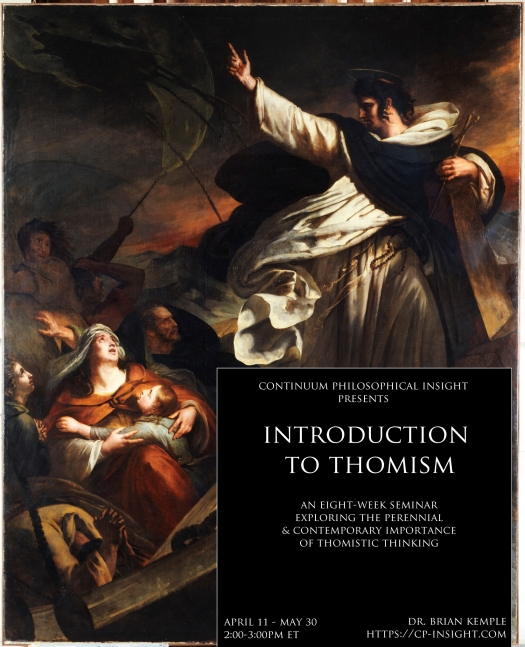 Saint Thomas d'Aquin prêchant la confiance en Dieu pendant la tempête